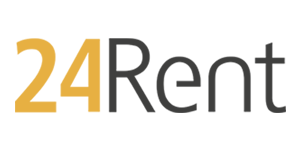 24Rent logo Black CMYK